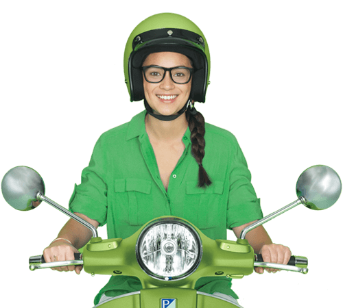 Smiling Young Woman Scooter Booster Kiwisaver Scheme