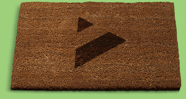 Welcome mat with Booster logo